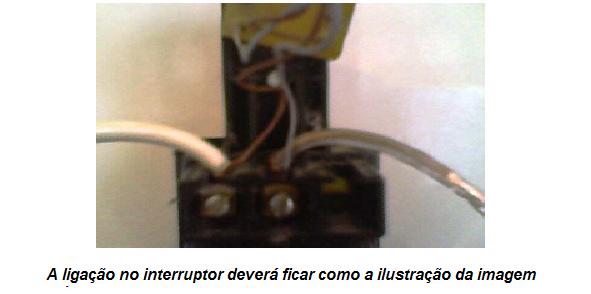 ligando o sinalizador cm led no interruptor