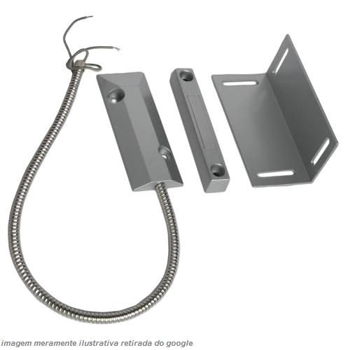 Possui uma resistência maior que o magnético simples. Indicado para detectar a abertura ou arrombamento de portões pesados ou portas