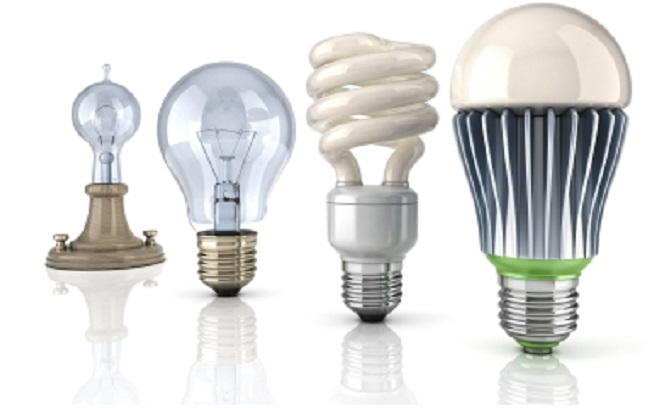economia com lâmpadas