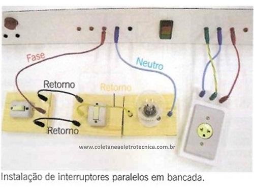 instalação de interruptor paralelo na bancada