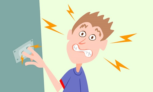 levar choque elétrico