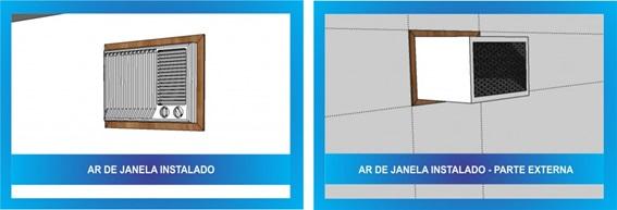 Ar-condicionado de janela instalado