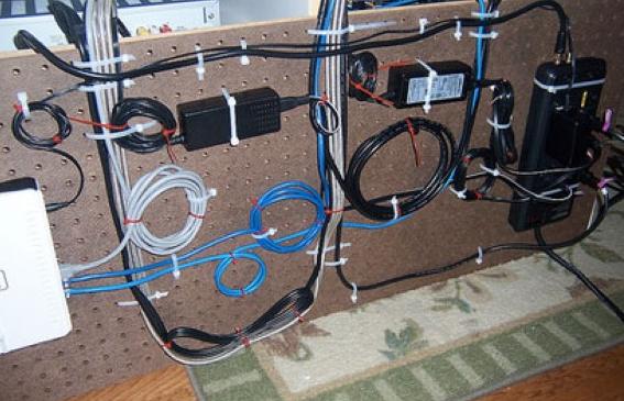 Organizador de fios de elétrica - dicas, passo a passo