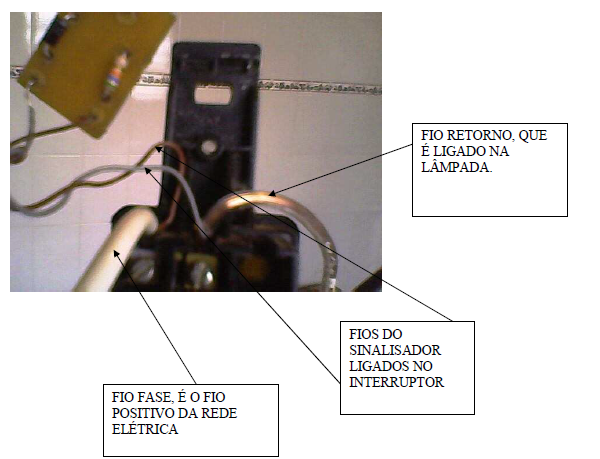 conectando a placa no interruptor