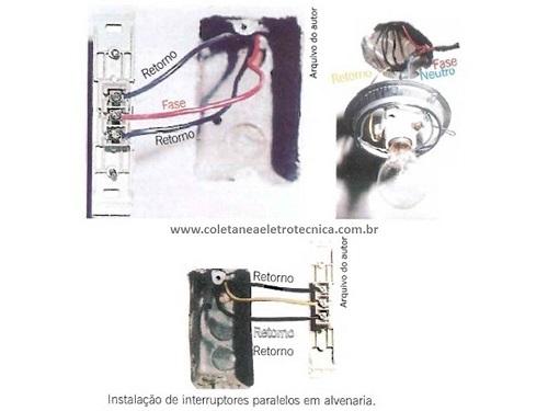 Instalação do interruptor paralelo