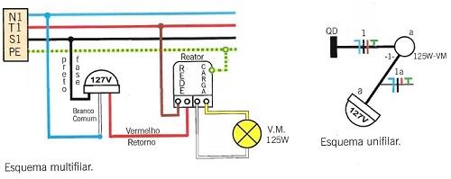 Instalação de lâmpadas com relé fotoelétrico terceiro passo