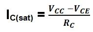 formula de calculo da corrente máxima no transistor
