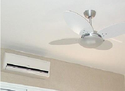 Use ventilador de teto sempre que possivel ao invés de ar condicionado