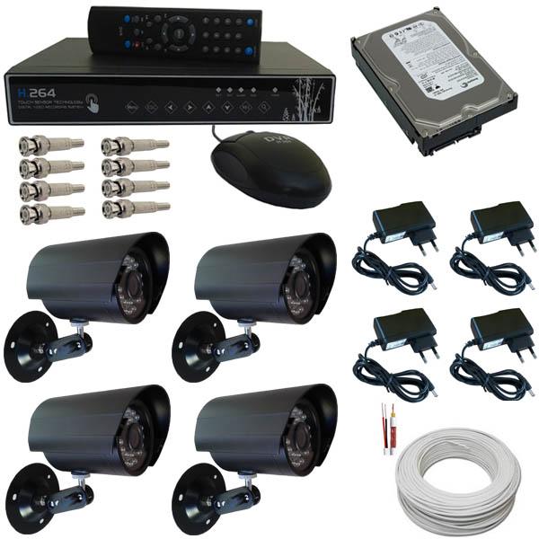 Kit de sistema de monitoramento de câmera