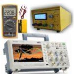 medidores eletricos – multímetro, osciloscópio e frequencímetro.